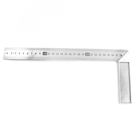 Unique Bargains 30cm 12 Inch 90 Degree Right Angle L Shaped Square Ruler Tool