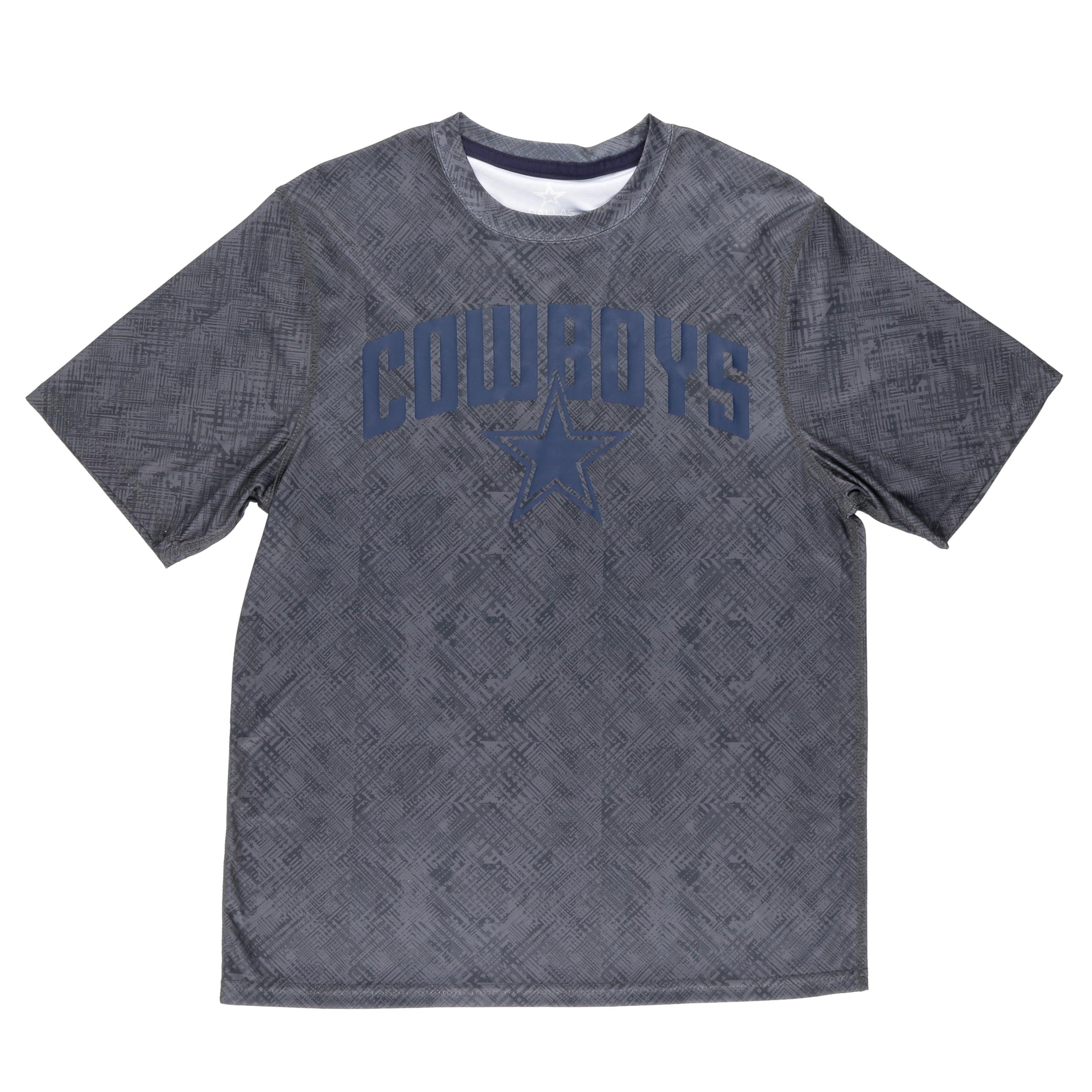 NFL Dallas Cowboys Men's Everette Short Sleeve Performance Tee Shirt