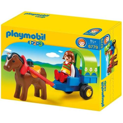 Playmobil 1.2.3. Pony Wagon 6779