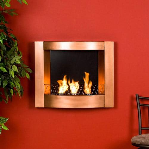 Holly & Martin Hallston Wall Mount Fireplace-Copper - Walmart.com