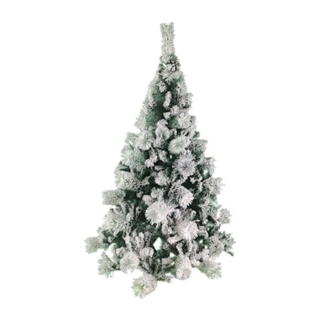 ALEKO CT70H663 Snow Dusted 6 Foot Artificial Holiday Christmas Tree with Green Metal