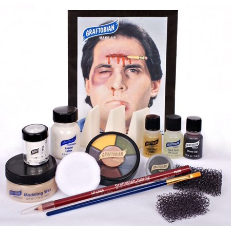 GRAFTOBIAN DELUXE SEVERE TRAUMA KIT professional stage emergency wound makeup (Special Fx Makeup Kit)