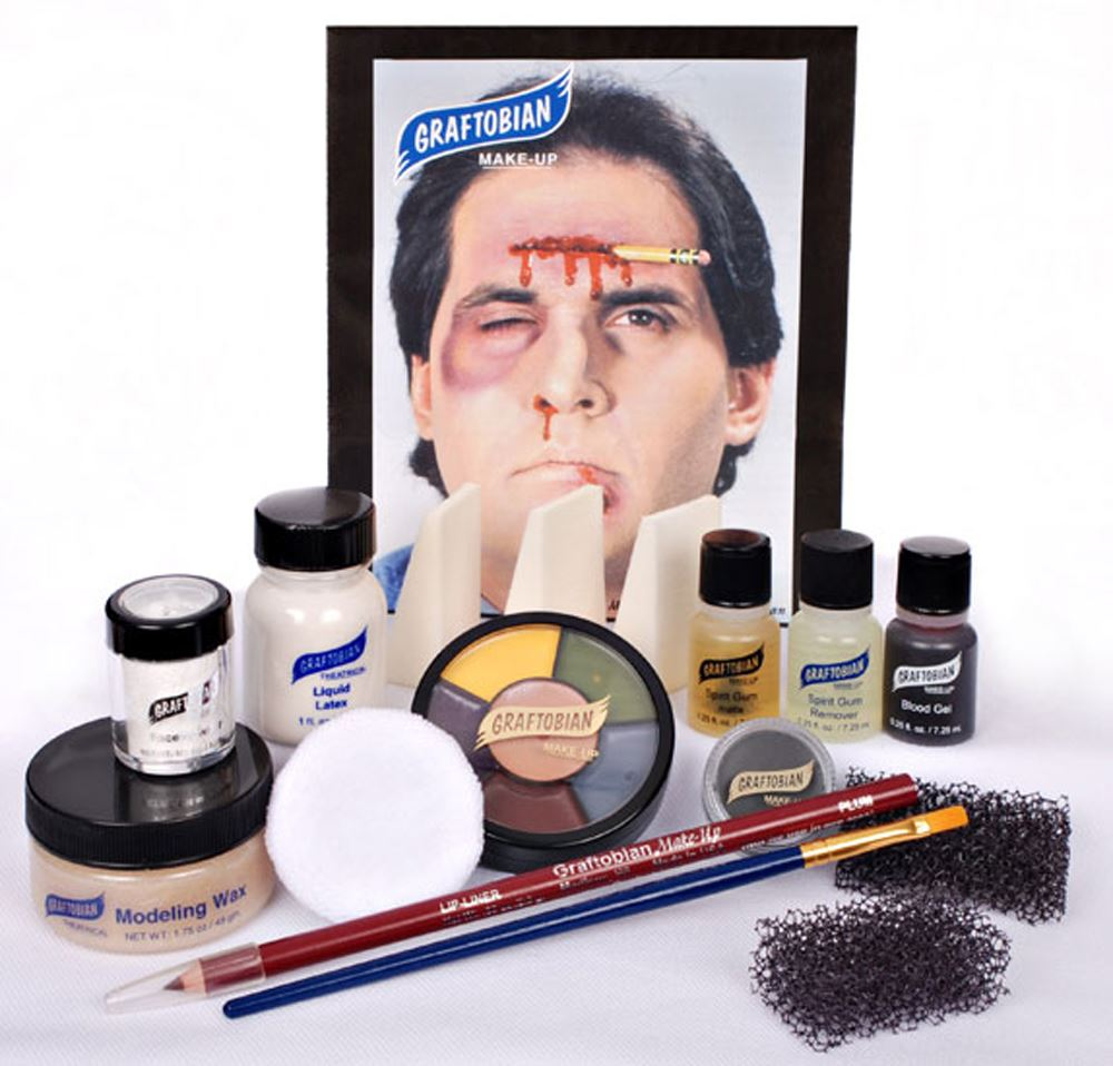 GRAFTOBIAN DELUXE SEVERE TRAUMA KIT professional stage emergency wound makeup