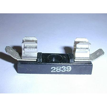 Termination Block - Bussmann 2839 Fuse Block for 3AG Fuses 15A Max, .250 QC Termination (1 piece) - 2839