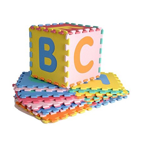 Realkids NON-TOXIC EVA Foam Interlocking 26-Letter Educational ABC Floor Mat - image 1 of 4