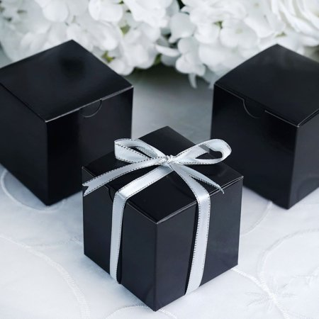 Black Classic Gift Box - Efavormart Multiple Colors Wedding Banquet Event Party Gift Wrap Boxes 3x3x3 100pc