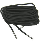 87 Inch 220 cm Black 550 Paracord with Black Steel Tips; 2 Pair pack of the Strongest shoelaces boot laces Available