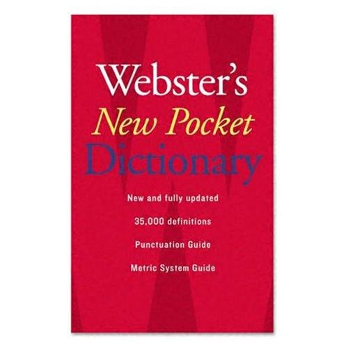 Houghton Mifflin Webster's New Pocket Dictionary Dictionary Printed Book - English - Published On: 2007 August 28 - Book - 336 Pages (1019934)