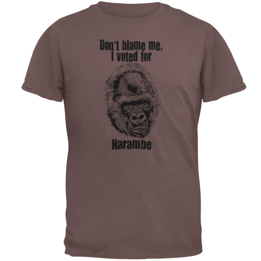 Election 2016 Funny Voted For Harambe Mens T Shirt