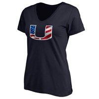 Miami Hurricanes Women's Banner Wave T-Shirt - Navy