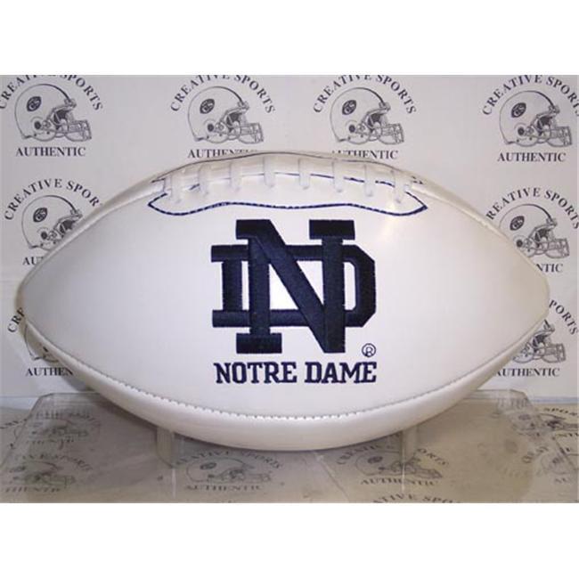 Creative Sports FBC-NOTREDAME-Signature Notre Dame Fighting Irish Embroidered Logo Signature Series Football