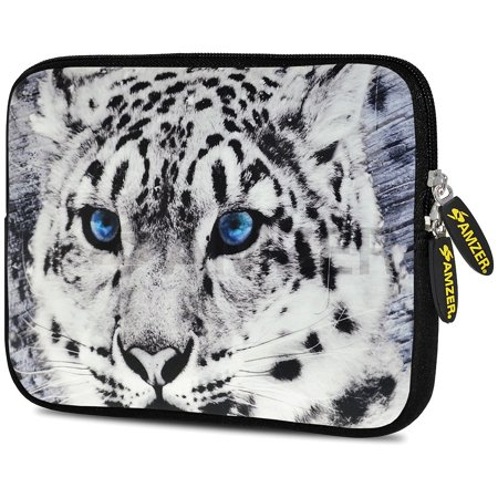 Designer 7.75 Inch Soft Neoprene Sleeve Case Pouch for Alcatel ONETOUCH POP 7 LTE, Acer Iconia One 7, LG G Pad, Amazon Fire 7, Kindle/ Kindle HD 7, RCA 7 Tablet - Siberian Cat (Rca 7inch Tablet Rubber Case)