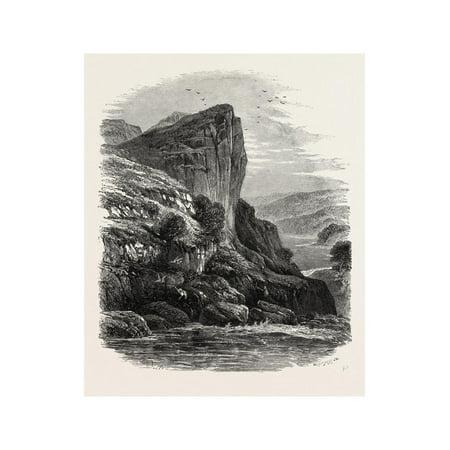 Shepherd's Crag, on the Llugwy, North Wales, UK, 19th Century Print Wall Art ()