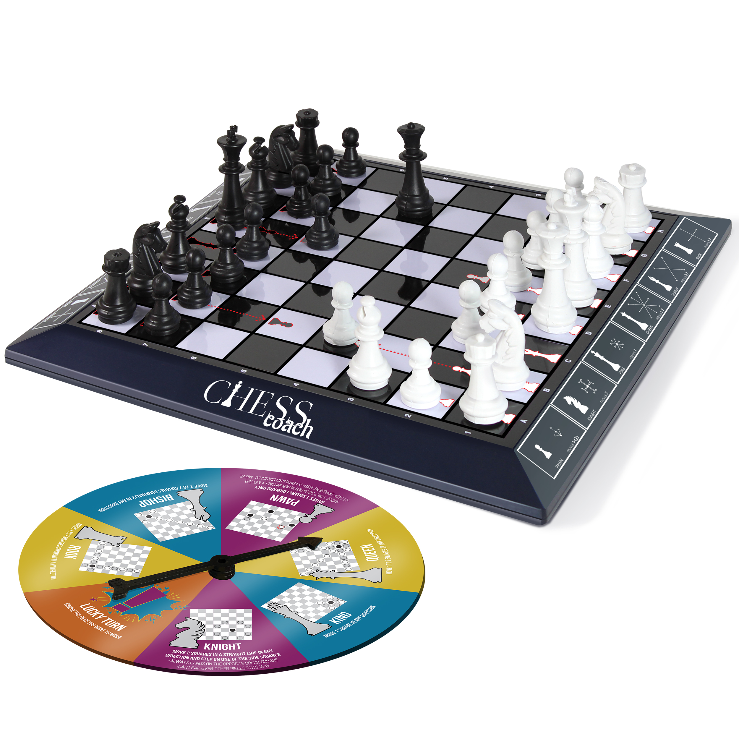 Chess Set Board Game for Kids and Adults with Step-by-Step Teaching Guide for Beginners by
