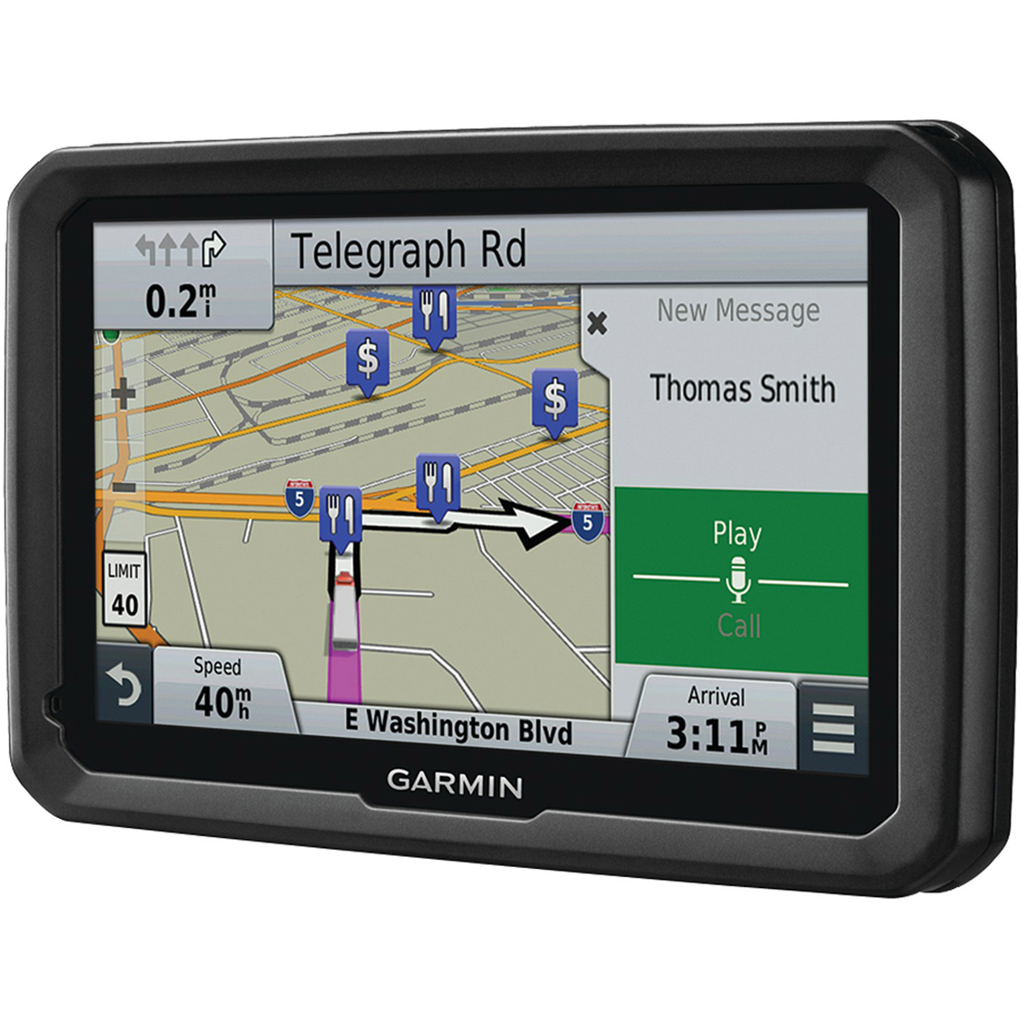 "Garmin dezl 770LMT 7"" GPS for Truck with Bluetooh and Free Lifetime Map and HD Traffic (North America Map)"