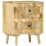 """Romacci Bedside Cabinet 15.7""""x11.8""""x19.6"""" Solid Mango Wood"""