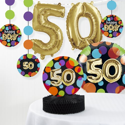 The Party Aisle Balloon 50th Birthday Decorations Kit (Set of 7)