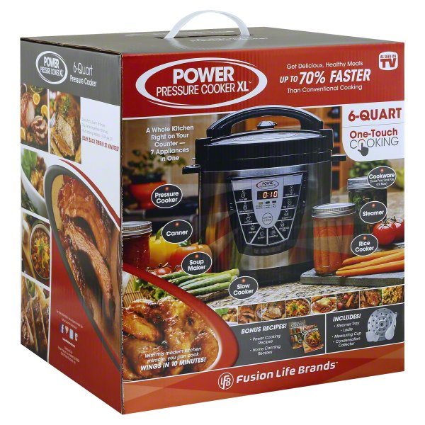 Power Pressure Cooker XL 6 Quart Pressure Cooker, 1 cooker