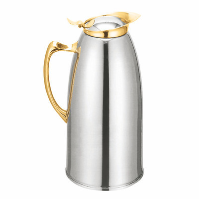 33 oz Fancy Gold Stainless Steel Hot Drink Coffee Server Carafe Vacuum Server by