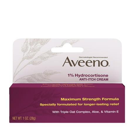 Aveeno Maximum Strength 1% Hydrocortisone Anti-Itch (Best Itch Cream For Hives)