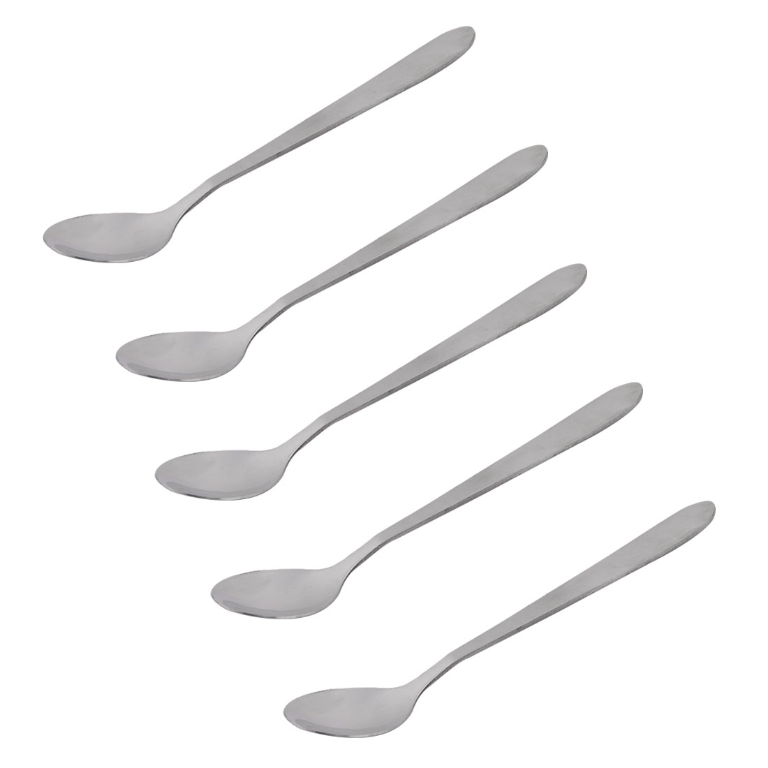 Coffee Ice Cream Scoop Long Handle Spoon Silver Tone 14.7cm Length 5 PCS by Unique-Bargains