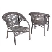 Patio Club Chair in Gray- Set of 2
