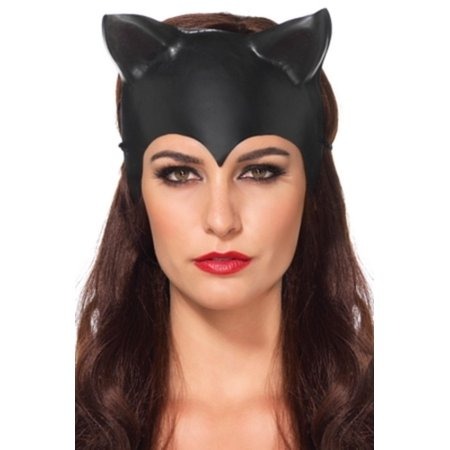 Leg Avenue Women's Cat Ear Mask Costume Accessory, Black, One Size (Catwoman Mask And Ears Costume)