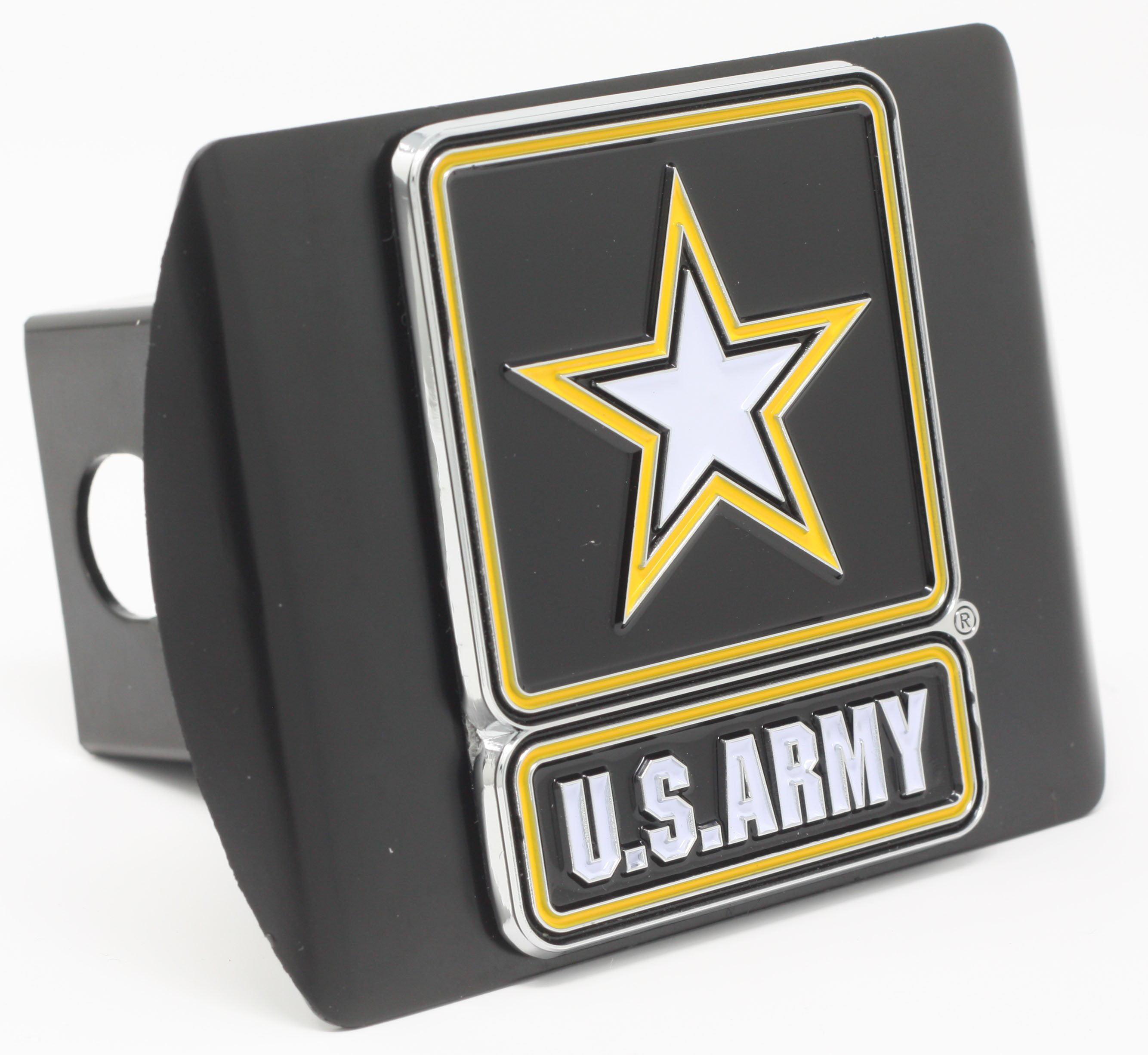"U.S. Army Color Metal Hitch Black 3.4""x4"""