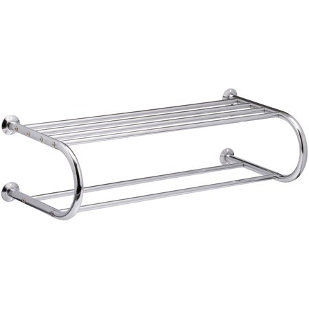 Neu Home® Bath Collection Chrome Mounting Shelf with Towel Rack