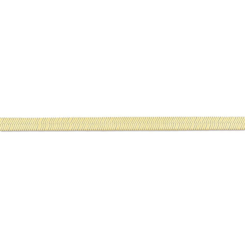 14K Yellow Gold 5mm Wide Herringbone Chain Necklace