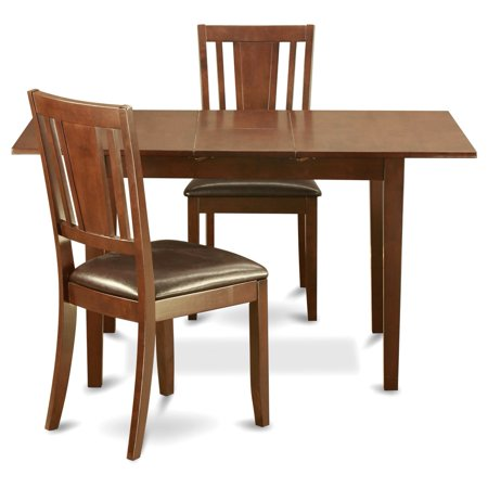 Nodu3 mah w 3 piece small dinette set dining tables for for Dining chairs for small spaces