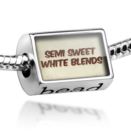 Bead Semi Sweet White Blends Wine, Vintage style Charm Fits All European Bracelets