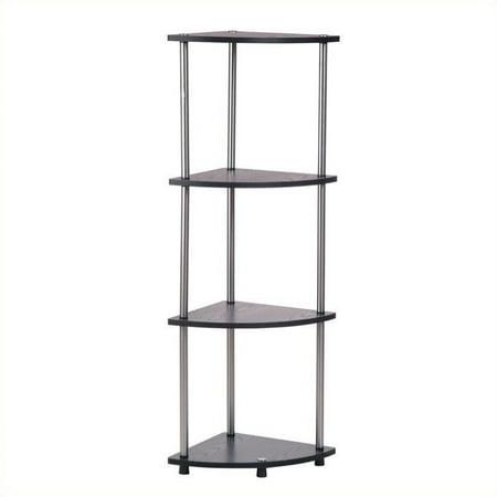 Convenience Concepts Designs2Go 4-Tier Corner Shelf in Black - image 1 de 2