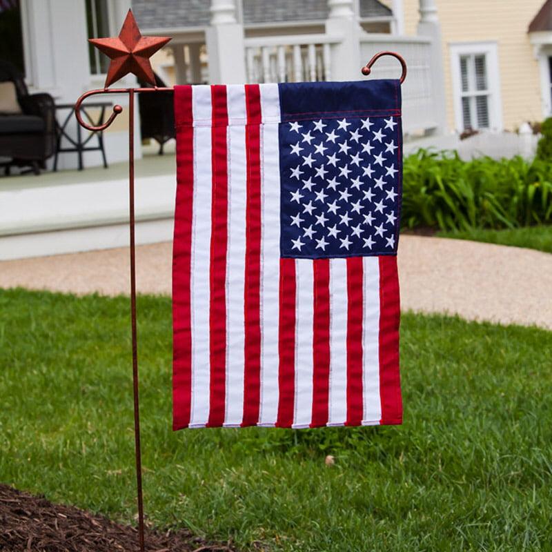 Garden Flag Stand, Star, Copper