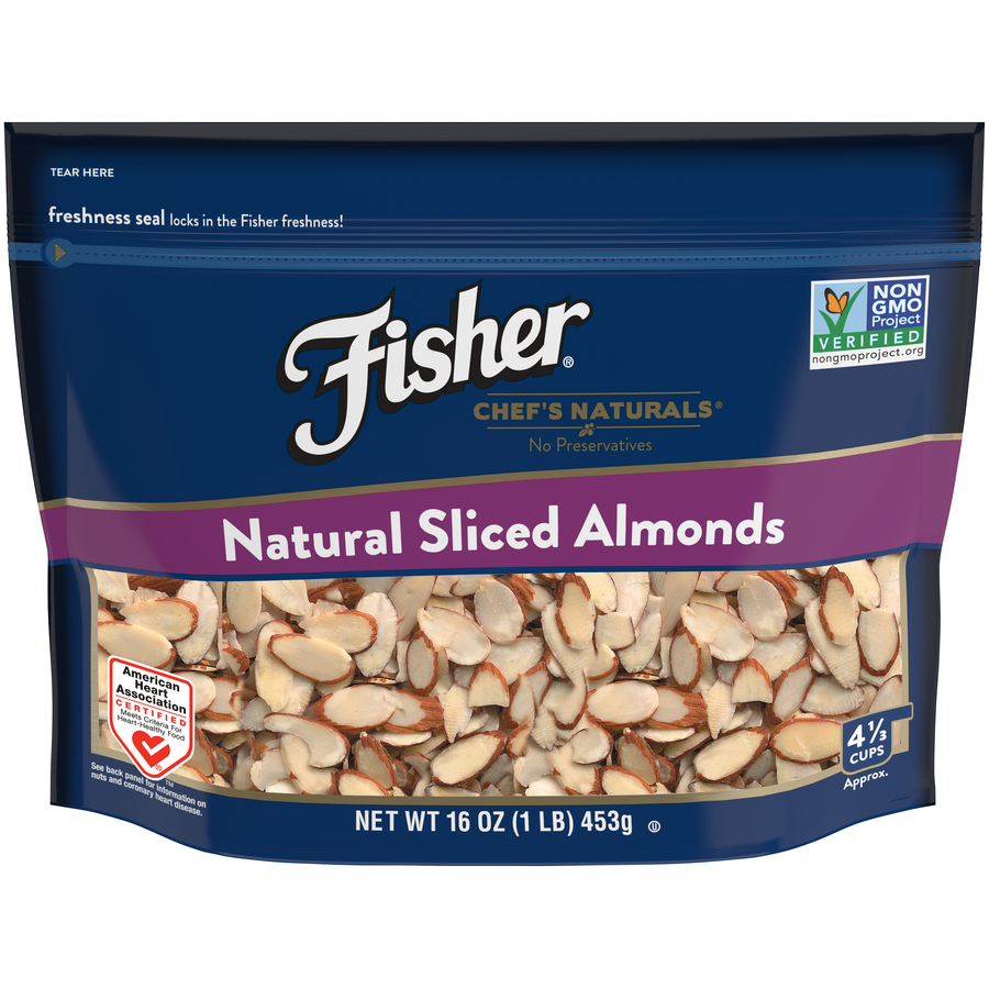 Fisher Chef's Naturals Natural Sliced Almonds, 16 oz
