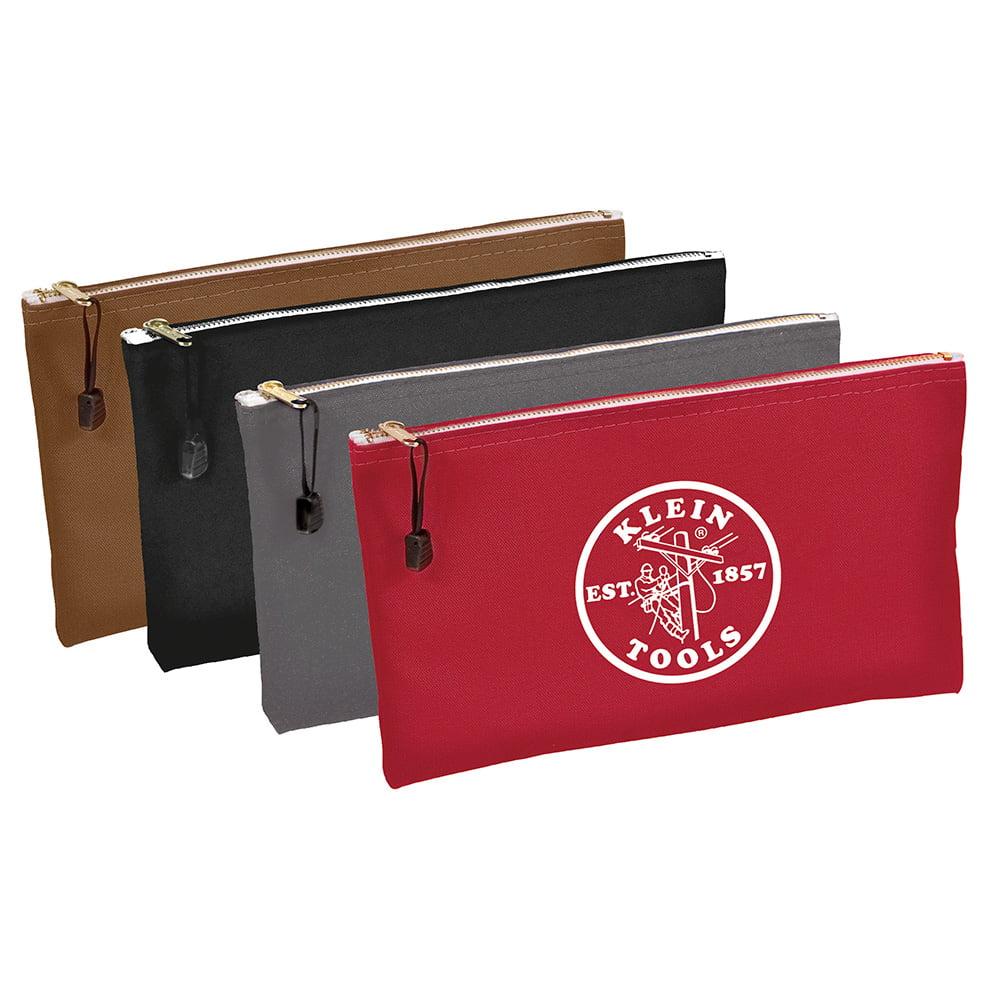 Klein Tools 5141 Canvas Bag 4 Pack, Brown/Black/Gray/Red