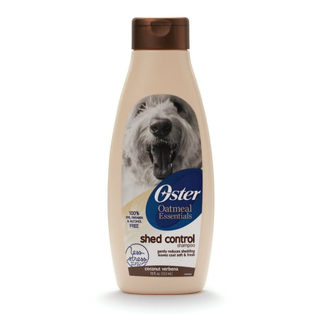 Oster Oatmeal Naturals Shed Control Shampoo Coconut Verbena, (Best Professional Dog Grooming Shampoo)