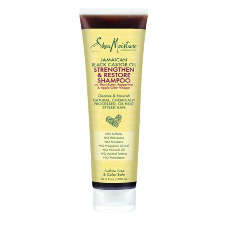 SheaMoisture Jamaican Black Castor Oil Strengthen & Restore Shampoo, 10.3