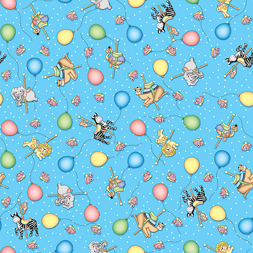 Bazoople Carousel Balloon Ride Fabric