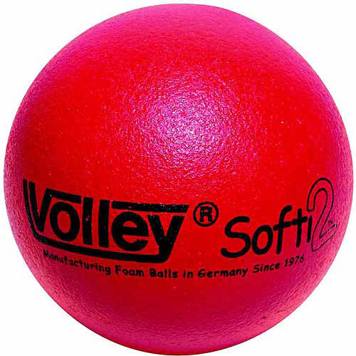 "Sportime Volley SuperSkin-2 Softi Very Low Bounce Playball, 4.75"", Red"