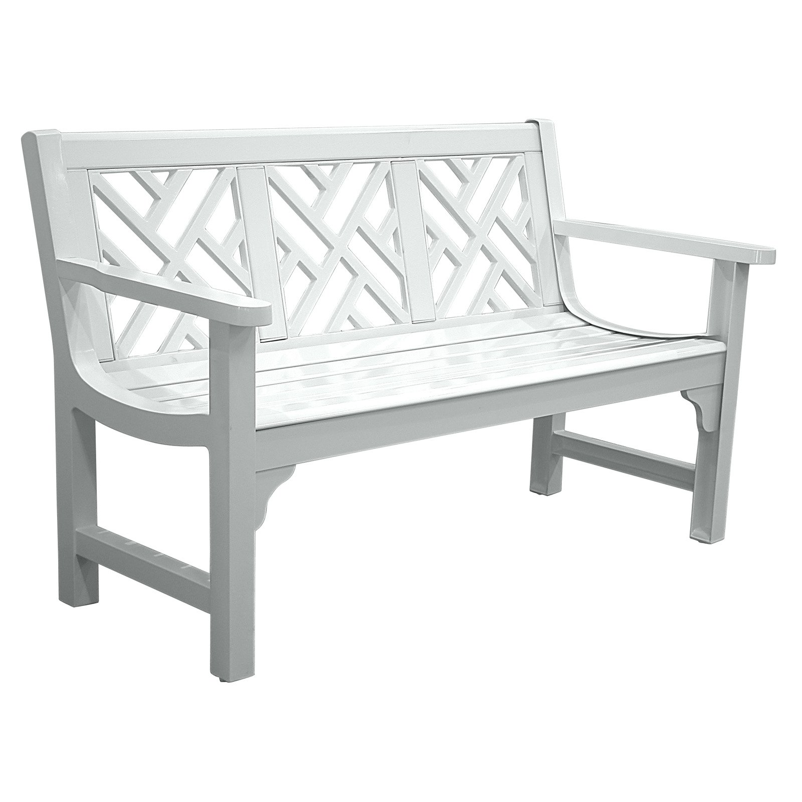 Cast Aluminum Park Bench White