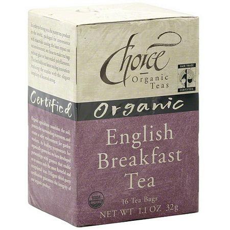 Choice Organic Teas Petit déjeuner bio Thé, 16ct (Pack de 6)