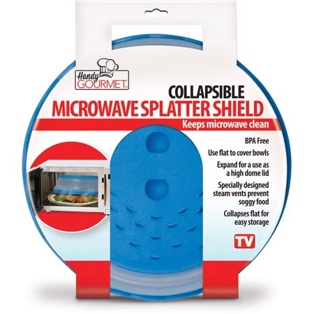 - Handy Gourmet JB5272 Collapsible Microwave Splatter Shield, Blue