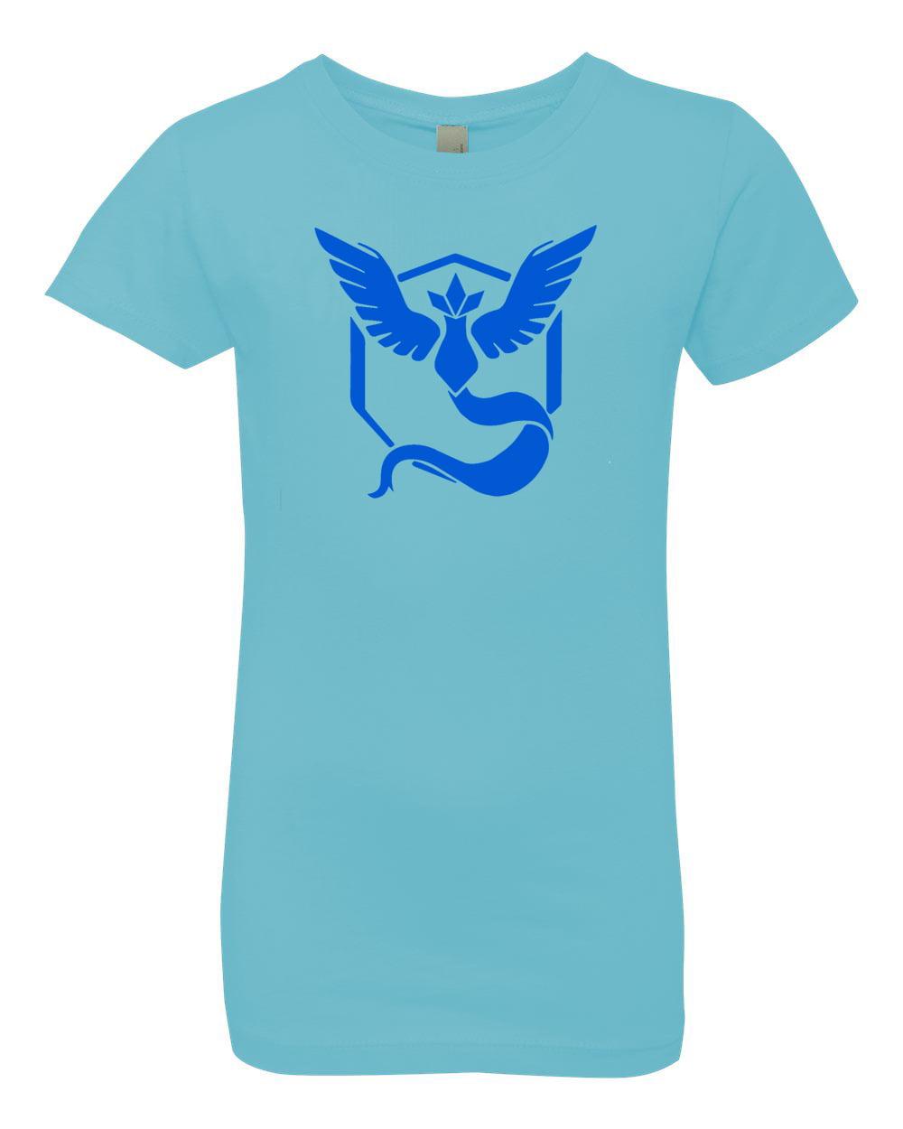 Pokemon Go Gym Team Mystic Blue Youth Girls Princess Tee T-Shirt Top