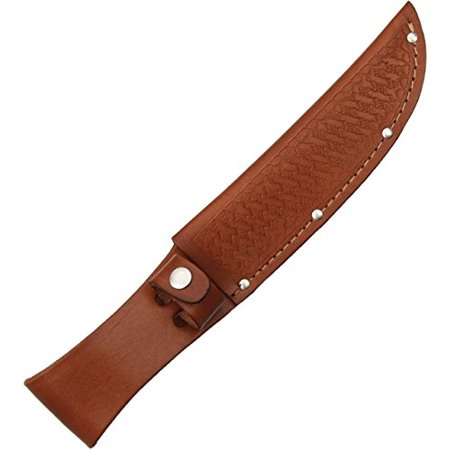 Fixed Knife   Brown Basketweave Leather Fits Up To 6In Blade  Blanks Take Heavy Overall New Basketweave Fits Size Sharp Black Sheath Blade Pizzas    By Sheath
