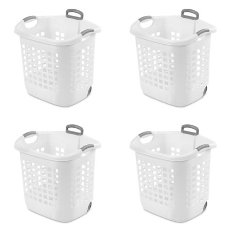 Sterilite 1.75 Bushel (62 L) Ultra Wheeled Laundry Basket, White, Case of (Ultra Laundry Basket)