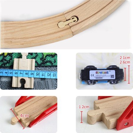 DIY Wooden Track Tools Bridge Train Rail Track Accessories Suitable for Thomas Kids Educational Toys - image 6 of 8