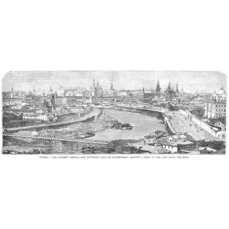 Russia Moscow 1881 NRussia - The Ancient Capital And Proposed Seat Of Government Moscow - View Of The City From The East Wood Engraving American 1881 Rolled Canvas Art -  (24 x 36)](City Of Seatac)