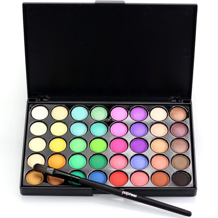Ktaxon Professional 40 Colors Makeup Eyeshadow Palette Eye Shadow HighLight Shimmer with Eye Brush - Halloween Eye Makeup Smokey