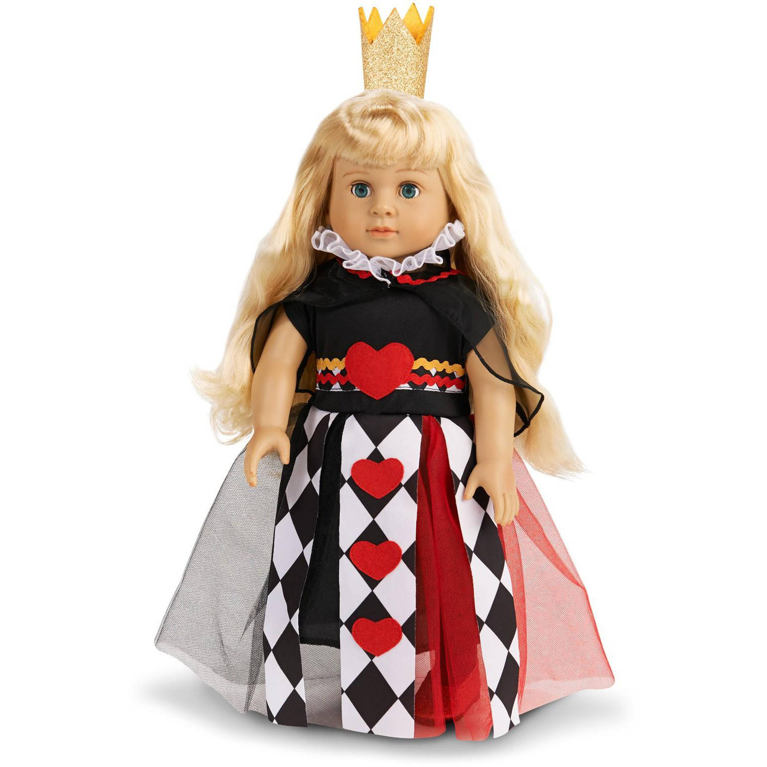 """Queen of Hearts 18"""" Doll Costume"""